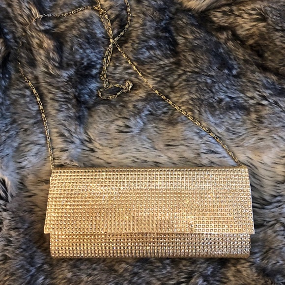 Call It Spring Handbags - Gold Sparkly Clutch 👑✨